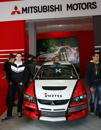 salon automobile: 51e Belgrade Salon de l'Auto International, Mars 2013.Mitsubishi Lancer Evolution �ditoriale