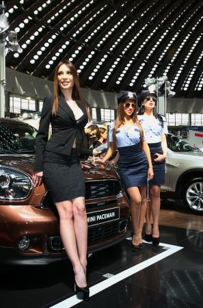 policewomen: 51st Belgrade International Car Show,March 2013.,Models in the role of policewomen