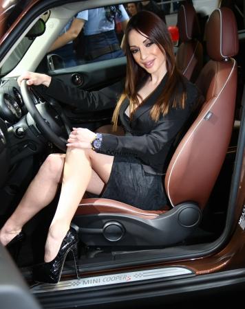 policewomen: 51st Belgrade International Car Show,March 2013.,Model posing Editorial