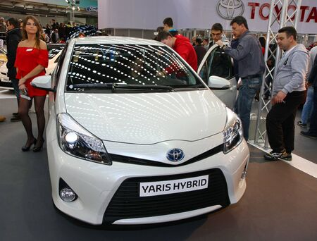 salon automobile: 51e Salon de l'auto international de Belgrade, Mars 2013.Toyota Yaris hybride