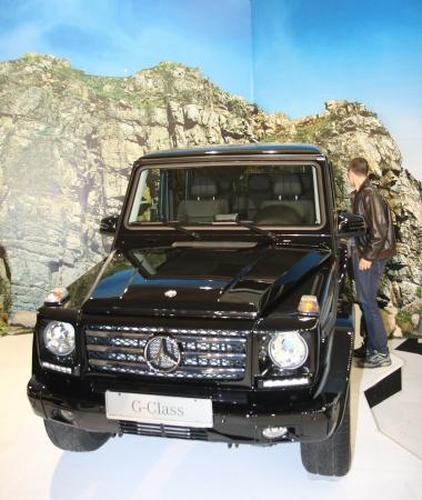 tec: 51st Belgrade International Car Show,March 2013.Mercedes G 350 Blue TEC