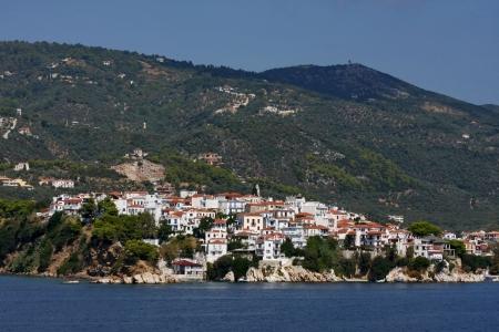 skiathos: Skiathos,Greece,view from the ferry Stock Photo