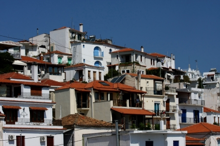 skiathos:  Skiathos,Greece,view from ferry