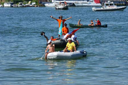 belgrade: Fourth Belgrade regata held on Sava river,Belgrade,Serbia