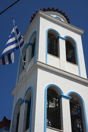 ortodox: Ortodox church at Loutraki,Greek port on Skopelos island Stock Photo