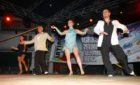 beautifu: Festival of Latin dances zumba,rumba,samba,salsa,held in Belgrade,Serbia in August 2011.organized by Tourist Organization of Belgrade