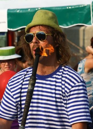 showman: Showman en Belgrado barco Carnival, 2012 julio Belgrado, Serbia