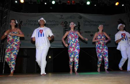 beautifu: Belgrade,Serbia-August 31:participants at Festival of Latin American dances zumba,rumba,samba,salsa,held in Belgrade,Serbia on August 2013.