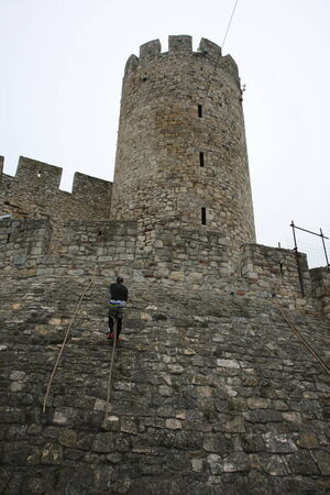 Race of Spartans held on 25 Oktober 2014,on Belgrade fortress Kalemegdan,Serbia as promotion of healthy styles of life