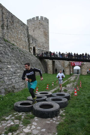 Race of Spartans held 25 Oktober 2014,on Belgrade fortress Kalemegdan,Serbia as promotion of healthy styles of life