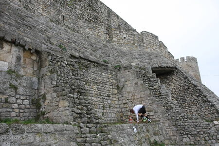 Race of Spartans held on 25 Oktober 2014, on Belgrade fortress Kalemegdan,Serbia as promotion of healthy styles of life