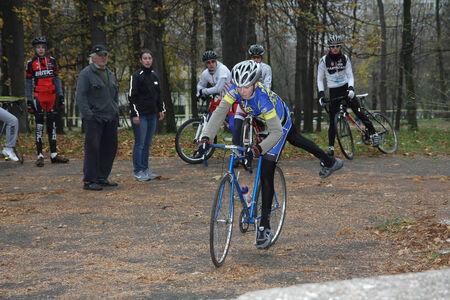 off road biking: Ciklotron cycling off road race for juniors held in Belgrade Serbia on 16 Novembe 2014