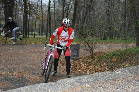 off road biking: Ciklotron cycling off road race for juniors held in Belgrade Serbia on 16 November 2014                                                                on 16 November 21014
