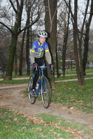 off road biking: Ciklotron cycling off road race for juniors held in Belgrade Serbia on 16 November 2014 Editorial