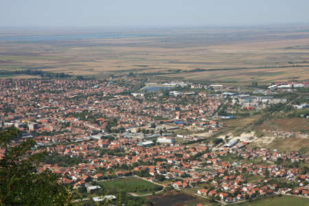 Landscape and cityscape of Vrsac in Serbia photo