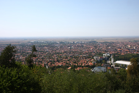 serbia landscape: Landscape and cityscape of Vrsac in Serbia