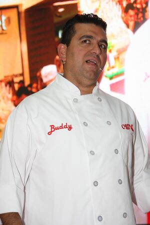 buddy: Cake boss Buddy Valastro,the star of TLC channel,on 1 Junr,in shopping center Usce in Belgrade,Serbia,promoting new programs and new season of the Cake boss tv show