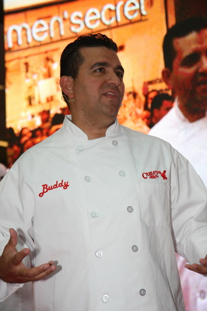 buddy: Cake boss Buddy Valastrothe star of TLC channelon 1 Junrin shopping center Usce in BelgradeSerbiapromoting new programs and new season of the Cake boss tv show
