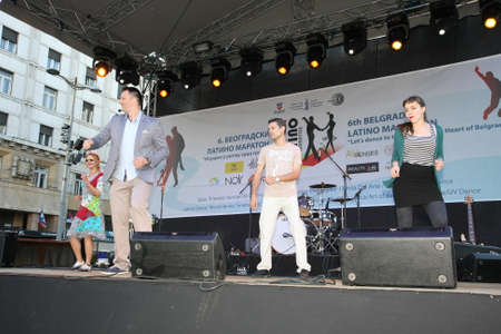 beautifu: The 6th Belgrade Latino Marathon held onThursday, the 30th of  May 2015 in Belgrade Serbia Editorial