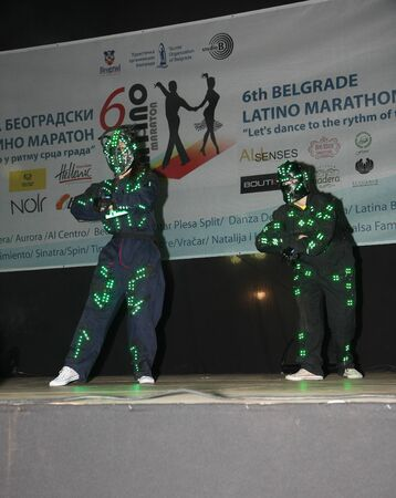 beautifu: The 6th Belgrade Latino Marathon held onThursday the 30th of  May 2015 in Belgrade Serbia