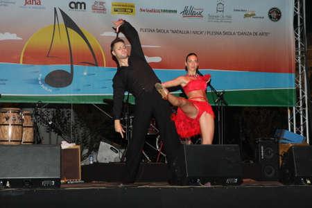 belgrade: Dancers  at Belgrade Boat Carnival held on Avgust 29 2015 at Belgrade,Serbia Editorial