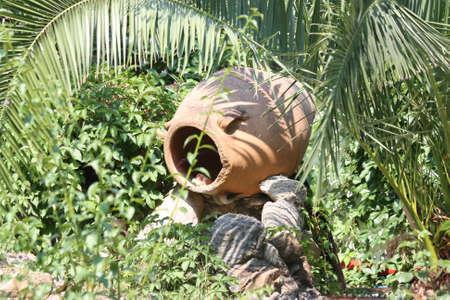 replica: Replica of ancient jug in Greece garden