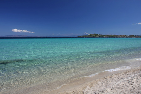 nuances: Beauriful nuances of blue colour on the Aegean sea beach,Greece