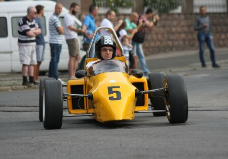 BELGRADE,SERBIA - SEPTEMBER 10 , 2016:Oldtimer formula at the commercial race of old cars in memory of formula 1 race, held on the same place in 1939 ,two days after the beginning of Second World War,when the famous Italian driver Tazio Nuvolari won Editorial