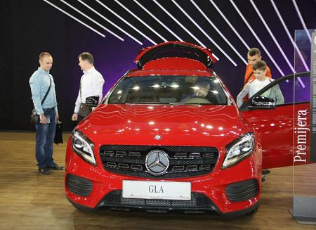 BELGRADE,SERBIA-MARCH 29,2017: Mercedes GLA 200 d 4M at 53th International Belgrade Car Show