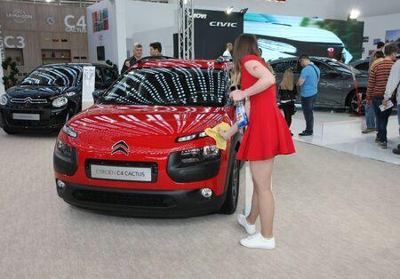 BELGRADE,SERBIA-MARCH 29,2017: Citroen C4 Cactus at 53th International Belgrade Car Show