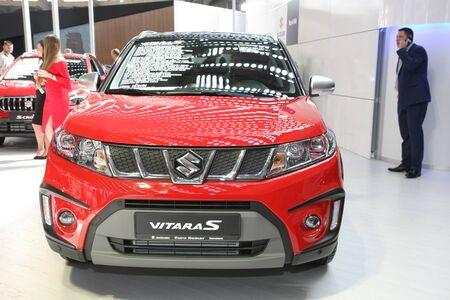 BELGRADE,SERBIA-MARCH 29,2017: Suzuki Vitara S 1.4 Boosterjet S 4WD 6MT at 53th International Belgrade Car Show Editorial