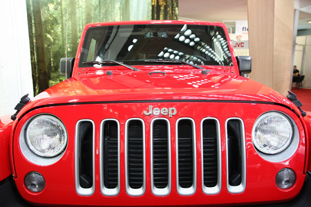 BELGRADE,SERBIA-MARCH 29,2017: Jeep Wrangler Unlimited Sahara 2.8 CRD 200KS 4x4 AT at 53th International Belgrade Car Show