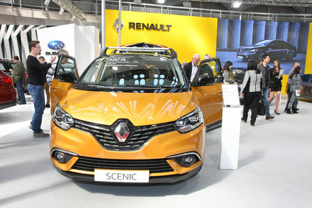 BELGRADE,SERBIA-MARCH 29,2017: Renault Scenic Edition One TCe 130 at 53th International Belgrade Car Show