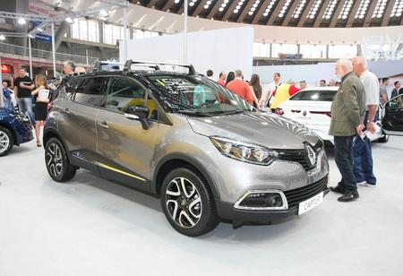 BELGRADE,SERBIA-MARCH 29,2017: Renault Captur Dynamique Energy TCe 90 at 53th International Belgrade Car Show Editorial