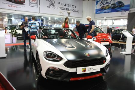 BELGRADE,SERBIA-MARCH 29,2017: Fiat Abarth 124 Spider at 53th International Belgrade Car Show Editorial