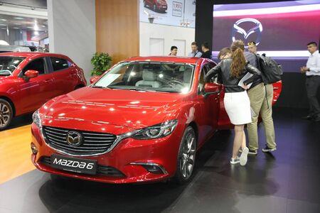 BELGRADE,SERBIA-MARCH 29,2017: Mazda 6 CD 175 AT Revolution Top at 53th International Belgrade Car Show