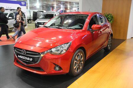 BELGRADE,SERBIA-MARCH 29,2017: Mazda 2 G90 Takumi at 53th International Belgrade Car Show