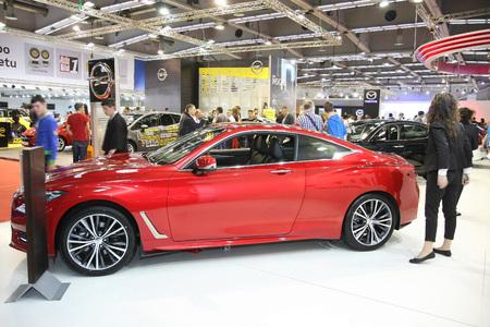BELGRADE,SERBIA-MARCH 29,2017: Infiniti Q60 2.0 T Premium at 53th International Belgrade Car Show