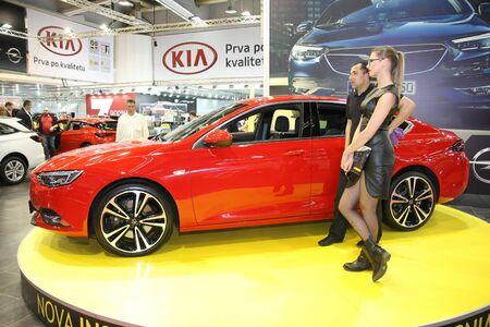 BELGRADE,SERBIA-MARCH 29,2017: Opel Insignia at 53th International Belgrade Car Show Editorial