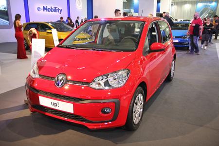 BELGRADE,SERBIA-MARCH 29,2017: Volkswagen up! at 53th International Belgrade Car Show