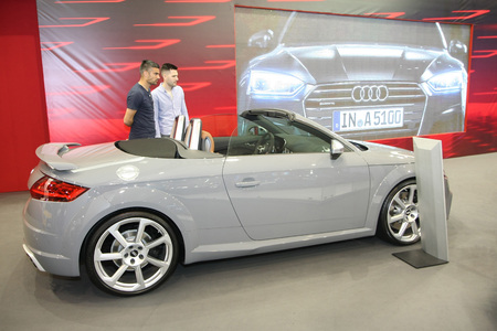 Belgradeserbia March 292017 Audi Tt Rs Roadster 25 Tfsi 400ks