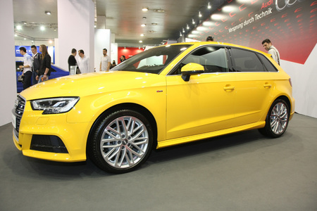 BELGRADE,SERBIA-MARCH 29,2017: Audi A3 Sportback Sport 1.4 TFSI 150KS at 53th International Belgrade Car Show