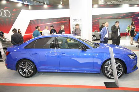 BELGRADE,SERBIA-MARCH 29,2017: Audi A4 Sport 2.0 TDI Quattro 190KS at 53th International Belgrade Car Show