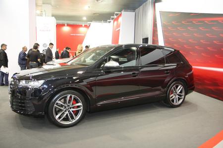 BELGRADE,SERBIA-MARCH 29,2017: Audi SQ7 4.0 TDI Quattro 435KS at 53th International Belgrade Car Show Editorial