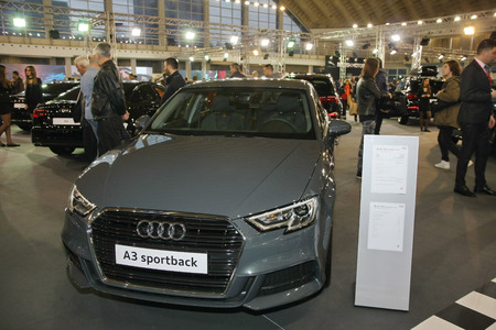 BELGRADE,SERBIA-MARCH 27,2018:  Audi A3 Sportback Sport at DDOR BG Car Show 06 報道画像