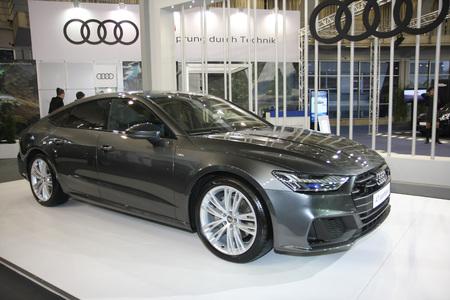 BELGRADE,SERBIA-MARCH 27,2018:  Audi A7 Sportback 50 TDI quattro  at DDOR BG Car Show 06