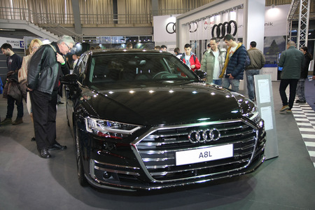 BELGRADE,SERBIA-MARCH 27,2018:  Audi A8 Long TDI quattro  at DDOR BG Car Show 06