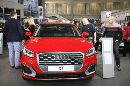 BELGRADE,SERBIA-MARCH 27,2018:  Audi Q2 Sport  at DDOR BG Car Show 06