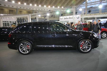BELGRADE,SERBIA-MARCH 27,2018:  Audi SQ7 4.0 TDI Quattro, 435 KS  at DDOR BG Car Show 06