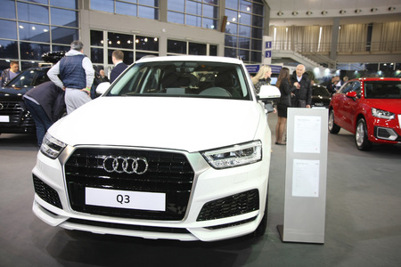 BELGRADE,SERBIA-MARCH 27,2018:  Audi Q3 Basic at DDOR BG Car Show 06 報道画像